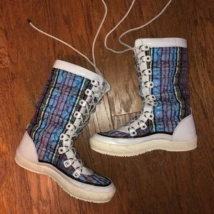 Coach winter lace up boots
